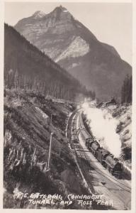 RP; Entering CONNAUGHT TUNNEL and Ross Peak, British Columbia, Canada, 30-50s