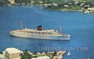 QTEV Queen Of Bermuda Ship, Ships, Postcard Post Cards  QTEV Queen Of Bermuda