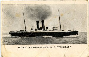 Quebec Steamship Co. - SS Trinidad  (creases, wear)