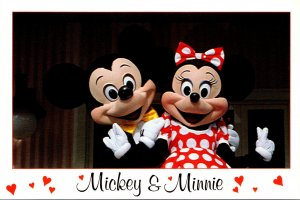 Walt Disney Productions Mickey and Minnie Hearts Of Fun From Florida