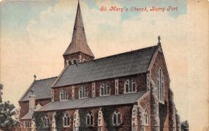 BURRY PORT CARMENTHENSHIRE WALES UK~ST MARY'S CHURCH POSTCARD 1900s