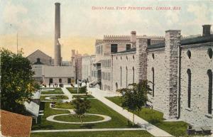 c1910 Chromograph Postcard Court Yard State Penitentiary Lincoln NE Lancaster