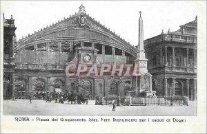 Old Postcard Roma Piazza dei Cinquecento Staz Ferr Monumento per i caduti di ...