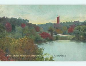Divided-Back TOWER & PARK SCENE Cincinnati Ohio OH r8178