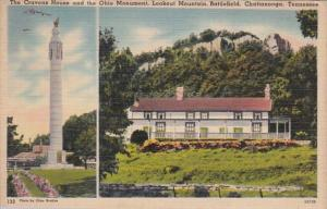 Tennessee Chattanooga Lookout Mountain The Cravens House and Ohio Monument 1943