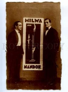 198106 CIRCUS poster MILWA & NANDOR Acrobat AUTOGRAPH Photo