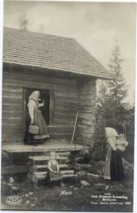 RPPC Women, Children Costume Mora Sweden, Standard Size Real Photo