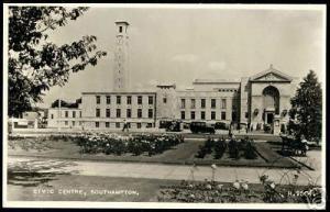 hampshire, SOUTHAMPTON, Civic Centre (1950s) ppc