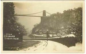 pc6637 postcard Snow Bridge Valley Road RPPC Clifton 37