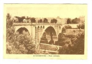 Bridge (Side View), Pont Adolphe, Luxembourg, 1900-1910s