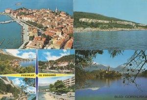 Bled Gorenjska Podgora Porec Rabac 4x Yugoslavia Postcard s