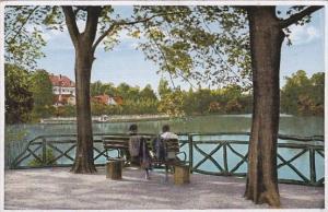 Germany Bad Nauheim Partie am grossen Teich