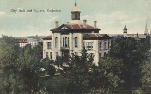GODERICH , Ontario , 1900-10s ; City Hall & Square
