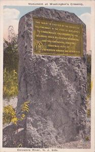Monument At Wastington's Crossing Delaware  River New Jersey