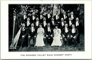 1907 CAMBRIA, Wisconsin Advertising Postcard RHONDDA VALLEY MALE CONCERT PARTY
