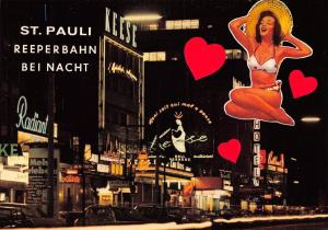 Germany Hamburg St. Pauli Reeperbahn bei Nacht, nuit, night view