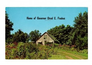 Governor Orval Faubus Home Overlooking Huntsville Arkansas Postcard #82018