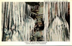 Pennsylvania Coudersport Ice Mine A Wall Of Ice In Nature's Wonder Curteich