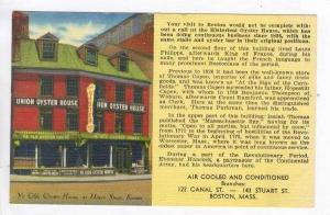 Union St. - Ye Olde Oyster House,Boston,MA / Massachusetts 1930-40s