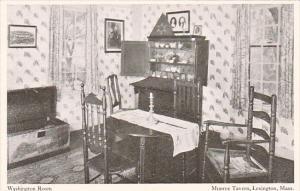 Wassachusetts Lexington Washington Room The Munroe Tavern