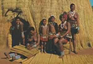Cane Matting Mat Making  Crafts Valley Of A Thousand Hills Natal Africa Postcard
