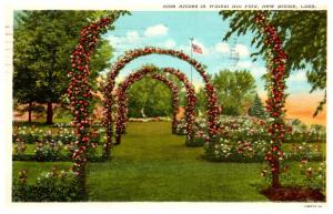 Connecticut  New Britain , Rose Arches in Walnut Hill park