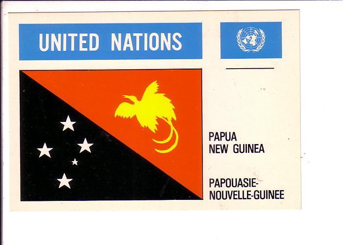 Papua New Guinea, Flag, United Nations