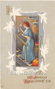 Halloween Postcard Old Vintage Post Card Series 345 F 1913