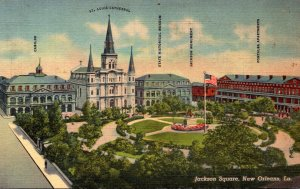 Louisiana New Orleans Jackson Square Curteich