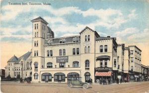 Taunton  Massachusetts Taunton Inn Exterior View Antique Postcard J51350