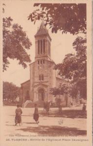 Algeria Tlemcen Entree de l'Eglise et Place Cavaignac