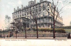 South Boston Massachusetts Institute For the Blind Antique Postcard J38890