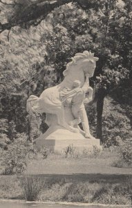 BROOKGREEN GARDENS, South Carolina, 20-30s; Youth Taming the Wild Statue