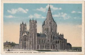 Cathedral of St. John the Divine, New York City, unused Postcard