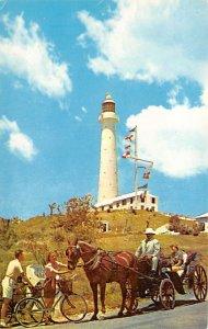 Bermuda Postcard Old Vintage Island Post Card Gibb's Hill Lighthouse Sec...