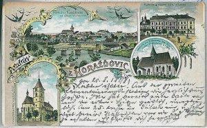 VINTAGE POSTCARD:  CZECH REPUBLIC - Horažďovice Horaschdowitz 1898