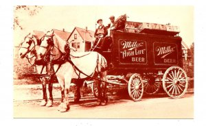 WI - Milwaukee. Miller Brewing Co., Horse-Drawn Delivery Wagon