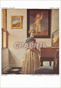 Postcard Modern National Gallery Vermeer Lady Standing at the Virginals