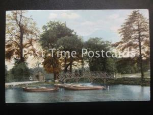 c1903 - Upper Lake, Roundhay Park, Leeds - showing rowing boats moored