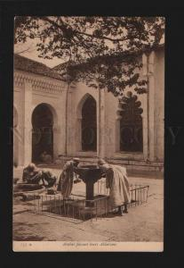 076484 Ablution of Arabs in native house Vintage PC