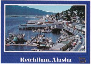Alaska Ketchikan Looking Down On The Fishing Fleet Docks 1988