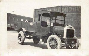 Real Photo Postcard Gramm and Ernstein Company Truck South Dakota~127461
