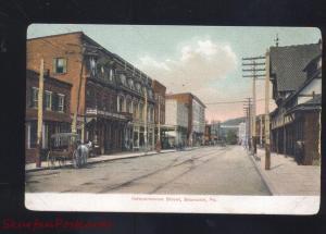 SHAMOKIN PENNSYLVANIA DOWNTOWN STREET SCENE VINTAGE POSTCARD