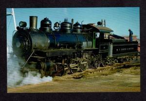 W T Carter & Brother Railway Train Railroad Steam Locomotive no 14 Postcard RR