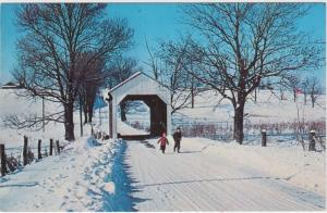 Ohio Lisbon  No.7 Columbian County  covered bridge