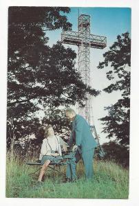 Canada Montreal Mount Royal Cross La Croix du Mont Royal Quebec Vtg Postcard