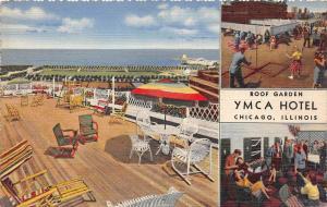 4353 IL Chicago 1940's  YMCA Hotel, Roof Garden