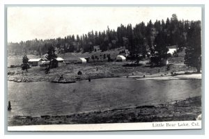 RPPC Little Bear Lake California Real Photo Postcard