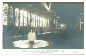 RP: Paris, France,1906: Salon de l´Automobile, Facade du Grand Palais (la nuit)