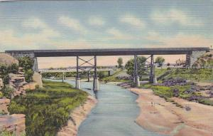 View of the Two Bridges on the Pecos, Santa Rosa,New Mexico,30-40s